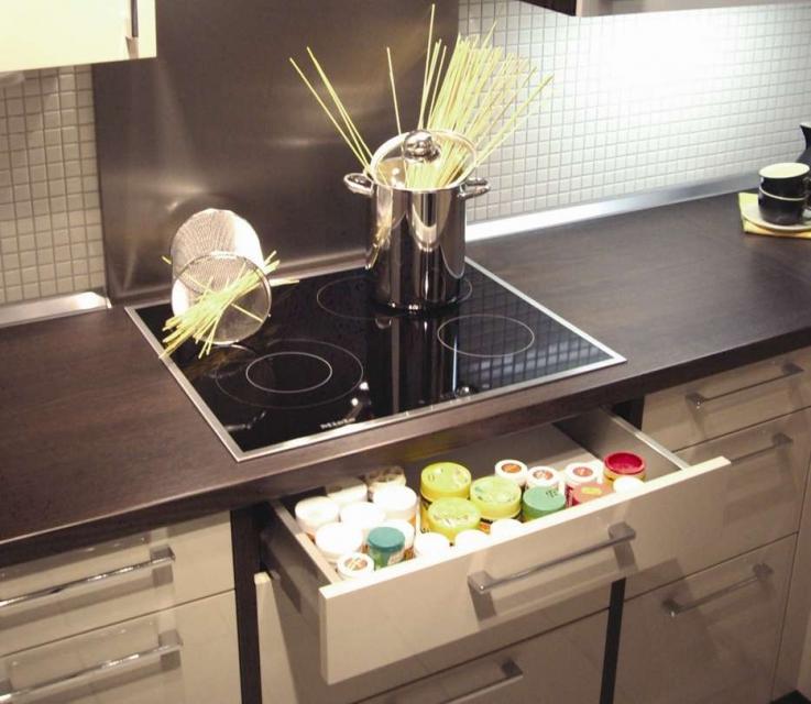 Hitzeschutzboden für Elektro-Kochfelder / Schubladen 100er