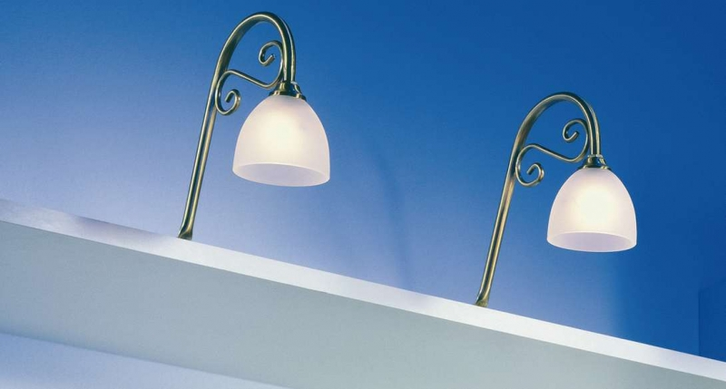 Nostalgie-Oberbodenleuchte Altsilber Einzelleuchte LED