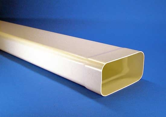 Flachrohr mit Muffe Länge Soft 0,5m