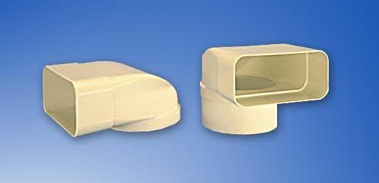 Umlenkstück Direktanschluss System Soft 125 - MIT Stutzen und Muffe