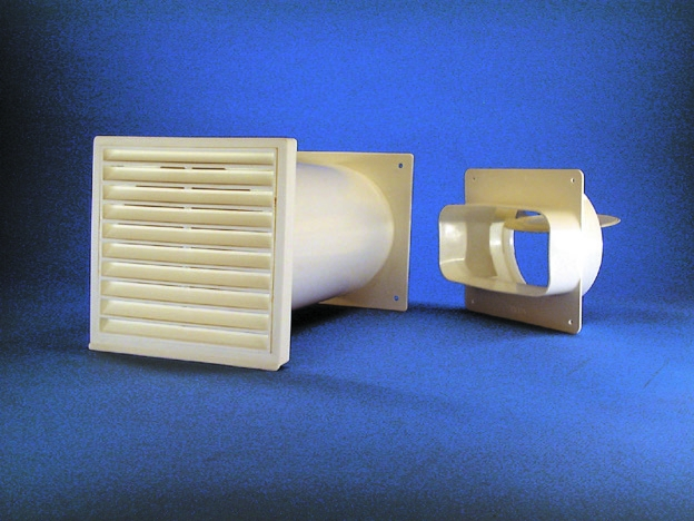 Rund-Mauerkasten mit Flachanschluss Soft ziegelbraun.