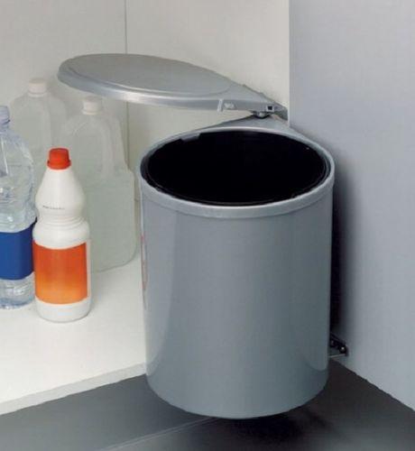 13 Liter rund silbergrau
