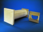 Rund-Mauerkasten ziegelbraun mit Flachanschluss
