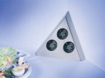 Dreiecks-Energiebox Edelstahl,3fach