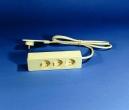 Superflach-Stecker mit Verlängerung Dreifach
