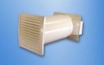 Rund-Mauerkasten mit Flachanschluss ziegelbraun.