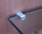 Glasplattenträger Rondo silber