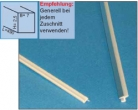 Schnittkanten-Profil Kunststoff/Chrom