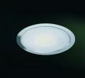 Set mit LED-Flach-Einbaustrahler Warmlicht Edelstahl Set 4er
