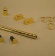Grundset goldfarbig, Endkappe flach.60cm