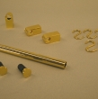 Grundset goldfarbig, Endkappe flach.120cm
