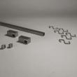Grundset Quadratreling Edelstahloptik 60cm lang