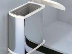 Hailo Uno 18 Liter Edelstahl/weiss ab 45 ,50 ,60 cm