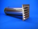 Mauerkasten Metallferzinkt 125mm Silber